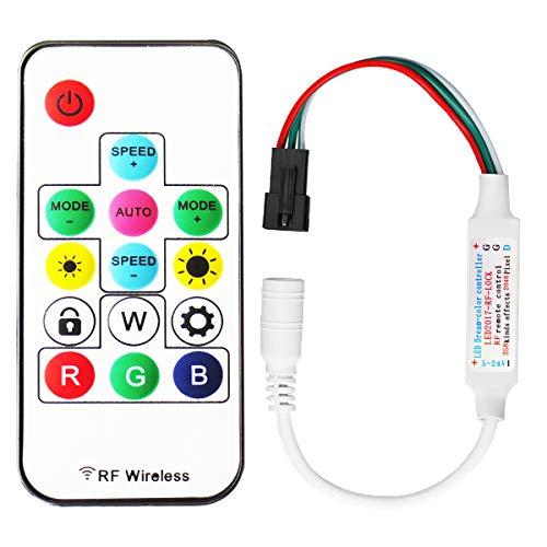 Tesfish 300 arten von veränderungen der digitalen rgb led streifen 14key DC5V/12V/24V rf wireless controller mit fernbedienung für ws2812 / ws2811 / ws2812b streifen (ModelleⅠ)