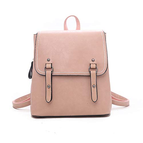 Zhang New Handbags Fashion Trend Style Pu Women's Backpack 03 (Color : Pink)