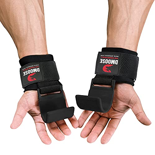 DMoose Fitness Weight Lifting Hooks Grip