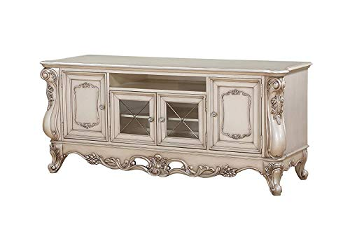 Acme Furniture TV Stand, Antique White