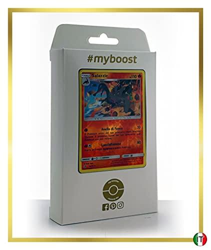Salazzle 14/70 - #myboost X Sole E Luna 7.5 Trionfo dei Draghi - Box di 10 Carte Pokémon Italiane