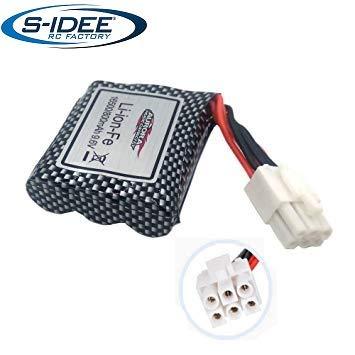 s-idee® 18180 9,6V 800mAh Power LiPo Akku 18160 und 18175 ferngesteuertes Auto 9115 9116 Ersatzakku GP