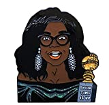 Gorgeous OPRAH Winfrey 1.3' Enamel Pin of Her PASSIONATE GOLDEN GLOBES'Their Time Is Up' Speech is a Breathtaking Work of ART. Textured with Intense Color & Detail.Beautiful Statement Pin