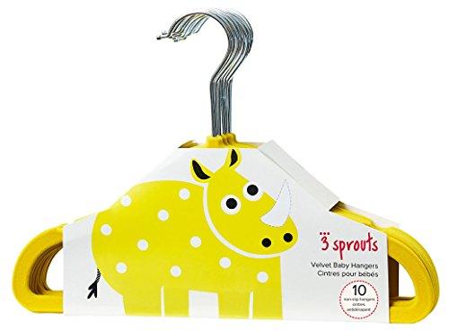 3 Sprouts Baby Hangers – Non-slip Velvet hangers for Nursery