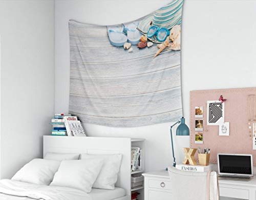 Tapestry for Men, Home Art of Cotton for D & Eacute; Cor Living Room Dorm Beach Accessories on Wooden Board Concepto del horario de Verano