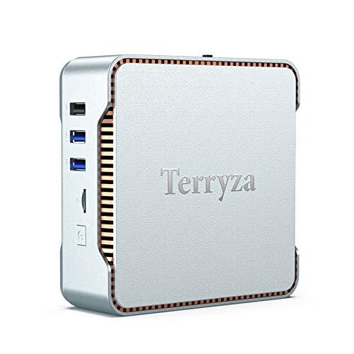 Mini PC with Windows 10 Pro & Intel Celeron N3350(Up to 2.4GHz),4GB LPDDR3 & 64GB eMMC Micro Desktop Computer Support 2.4G/5G Dual WiFi, 4K HD, HDMI/VGA Ports