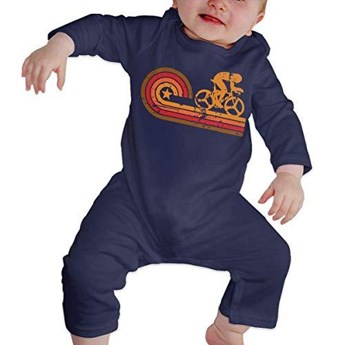 Body de manga larga con silueta de ciclista de estilo retro para bebé 1 color 6 Meses