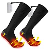 Heated Socks for Men/Women - Upgraded Rechargeable Electric Socks with Large Capacity Battery for 10 Hours Heating time