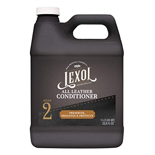 Lexol Leather Conditioner, 1 Liter, Leather Cleaner and Deep Conditioning Since 1933 For Use on Apparel, Furniture, Auto Interiors, Shoes, Bags and More (Packaging May Vary)