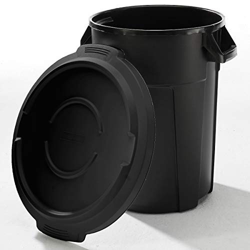 Conteneur multi-fonctions en plastique - capacité 85 l - noir - collecteur de déchets collecteur de tri collecteurs de tri conteneur multi-usages poubelle poubelle de tri poubelle à ordures poubelles de tri Collecteur de déchets Collecteur de déchets pour