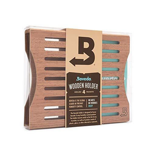 Boveda für Zigarren | Boveda-Halter aus Holz für Humidor | Zur Verwendung bei vier (4) Boveda der Größe 60 (separat erhältlich) | mit Magnet- und Befestigungssets | 1 Stück