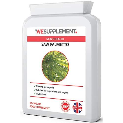Saw Palmetto 2500mg Supplement - 90 Vegan Capsules - Prostate, UTI & Bladder Support - DHT Blocker Can Help Prevent Hair Loss - Vegetarian & Vegan