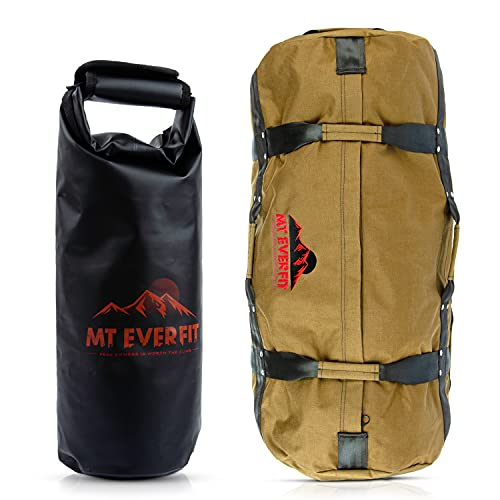 Sandbag Workout Bag & Sandbag Kettlebell Set - Heavy Duty Functional Triple Stitched Fitness Sandbags Made from 1050 Cordura with 8 Thick Foam Padded Handles & 3 Inner Bags