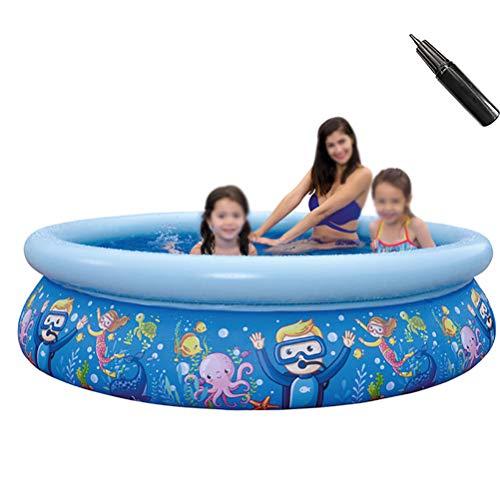 ZEIYUQI Aufblasbarer Swimmingpool Slide Thick Anti-Slippery Faltbare Planschbecken Für Kinder Jet Pool,Underwater World 205 * 47cm