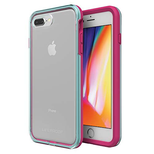 Lifeproof SLAM Series Case for iPhone 8 Plus & 7 Plus (ONLY) - Retail Packaging - Aloha Sunset (Clear/Blue Tint/Process Magenta)