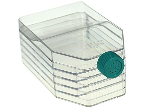 Nest Scientific 731002 5-Layer Polystyrene Cell Culture Flask, Vent Cap, Straight Neck, Tissue Culture Treated, Sterile, Clear, 1 per Pack, 8 per Case (Pack of 8)