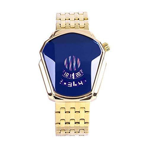 Precise Quartz Watch, Waterproof Diamond Style Quartz Watch Stainless Steel Watch Fashion Steel Band Hollow Movement Quartz Watch Great Gift for Men Women