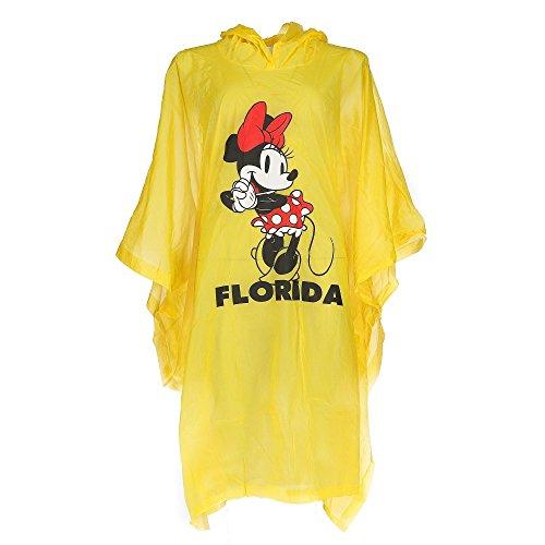 Disney Kid's Minnie Mouse Florida Rain Poncho, Yellow