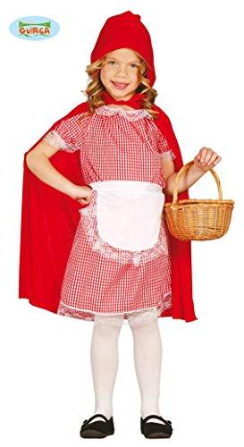 Costume Cappuccetto Rosso Bambina - Colore - Rosso, Taglia - Medium 7 - 9 Anni 127 - 132 cm