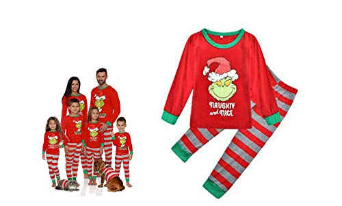 CNQXG Christmas Family Matching Christmas Clothes Grinch Pyjamas Family,Mom Dad Kids...