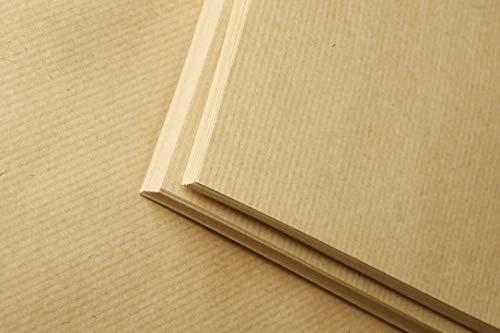 Clairefontaine 396004C Packung mit 100 Blatt Kraftpapier (90g, DIN A4, 21 x 29,7 cm, ideal für Kunstprojekte und zum Einpacken) braun