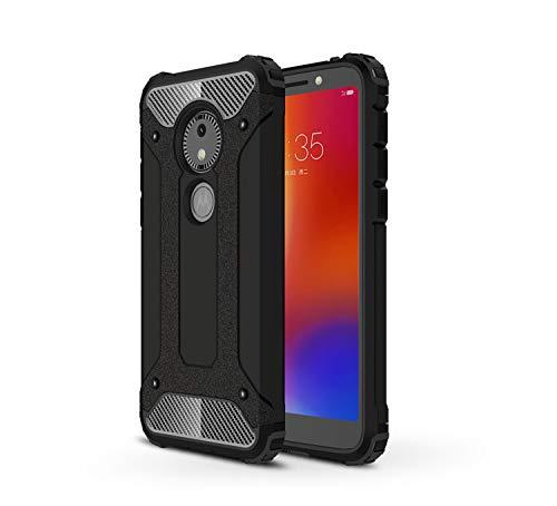MIFanX Coque Motorola Moto E5 Play Go,Souple TPU + Dur PC Hybride Double Antichoc Housse De Protection pour Motorola Moto E5 Play Go(Noir)