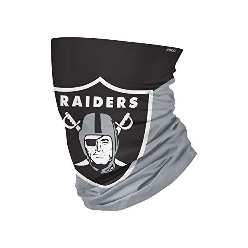 NFL FOCO Las Vegas Raiders Neck Gaiter, One Size, Big Logo
