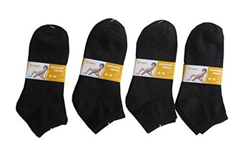 Pesail 12er Pack Sneaker Söckchen Socken, schwarz, Gr. 35-38, S3030e