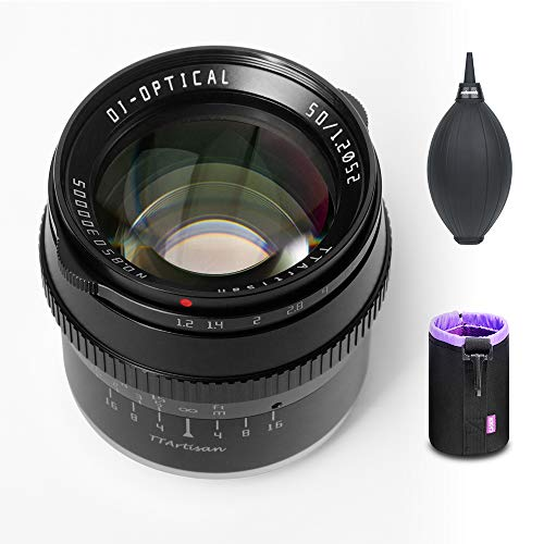 TTartisan 50mm F1.2 APS-C Format Large Aperture Manual Focus Fixed Lens Compatible with Sony E-Mount