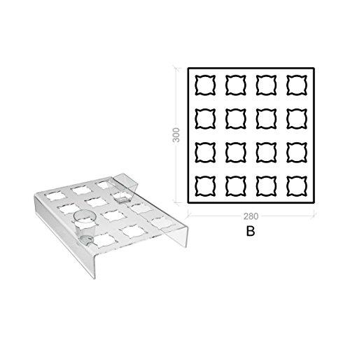 Avà srl Support plexi crème glacée – 16 compartements - Dimensions: 28x30x H5 cm