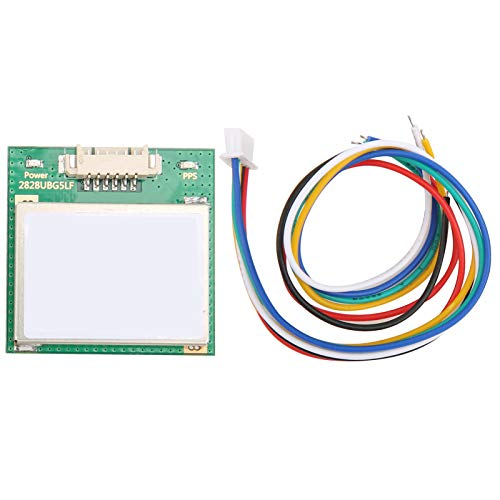 VK2828U7G5LF Módulo GPS, Módulo GPS + Antena TTL Nivel 1‑10Hz, con Componentes de Control de Vuelo de Plástico Flash, Antena Receptora