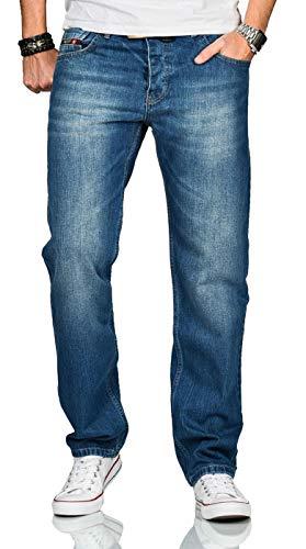 A. Salvarini Beppo Designer Herren Jeans Hose Basic Jeanshose Comfort Fit AS-250 [AS-250-Blau-W40-L30]