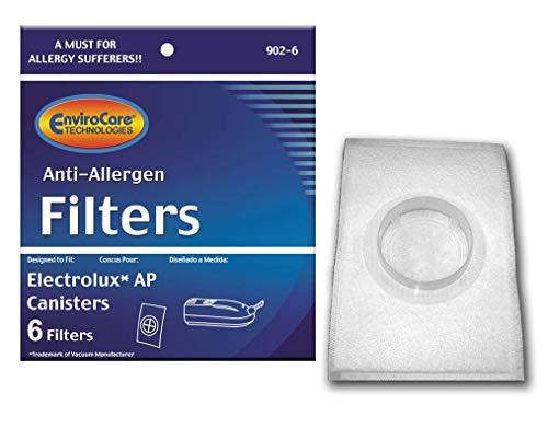EnviroCare Replacement Vacuum Filters for Electrolux, Aerus AP100 Canister Vacuum HEPA LE 2100, Diplomat, Ambassador, Epic 6500, (6 Filters)