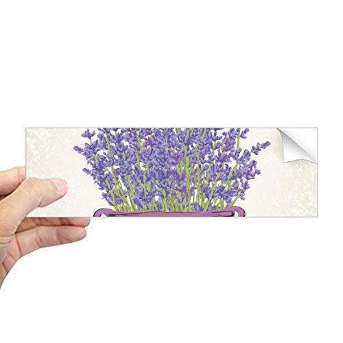 DIYthinker Paars Lavendel Pot Bloem Plant Rechthoek Bumper Sticker Notebook Window Decal