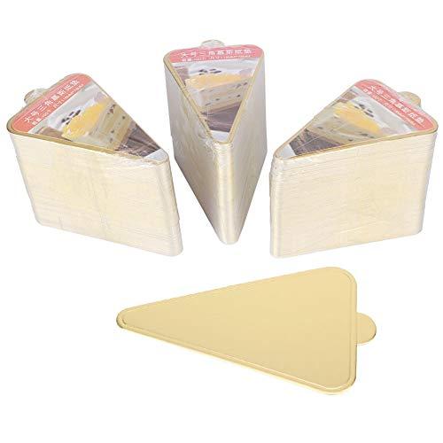 Kathlen Cake Board-300pcs Triangular Mousse Cake Boards Cupcake Base Bandeja de exhibición de Postre Herramientas de decoración de cartón