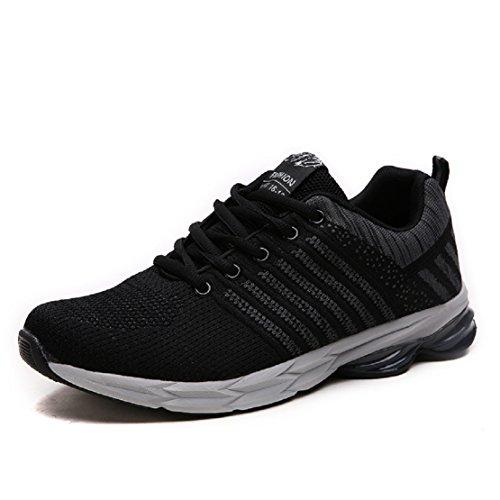 ZapatillasRunningpara Hombre Aire Libre y Deporte Transpirables Casual Zapatos Gimnasio Correr Sneakers Gris 42