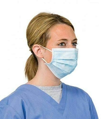 Staubmasken Masken 3-lagige Einweg-Staubschutzmasken mit elastischer Filterkraft im Gesicht 99% professionelle Blaue (50 X 1 Stück)