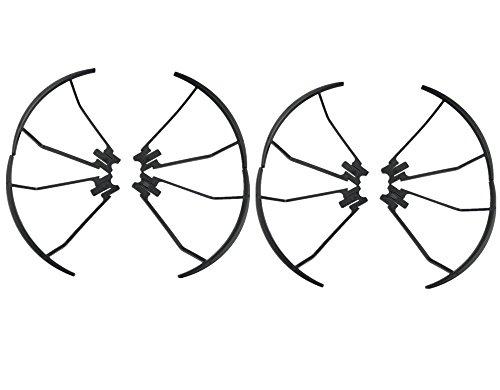 Price comparison product image Upgrade Propeller Prop Guards Protectors Bumpers for TIANQU VISUO XS809 XS809HC XS809HW XS809W Drone RC Quadcopter Spare Parts Black (Black 8pcs)