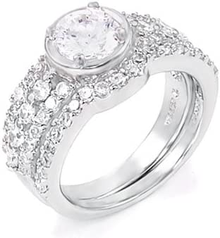 Sterling Silver Cubic Zirconia All items free shipping CZ Fixed price for sale Engagement Ring Wedding Set