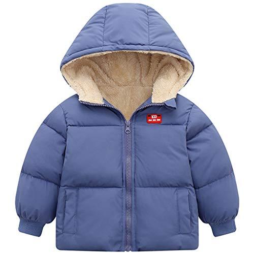 Enfants Polaire Veste Bébé Garçon Fille Doudoune à Capuche Hiver Léger Manteaux Vêtements Rembourrée Matelassé Chaude Blouson