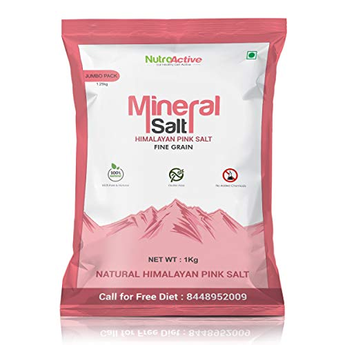 Nutroactive MineralSalt Himalayan Pink Rock Salt Fine Grain 1Kg