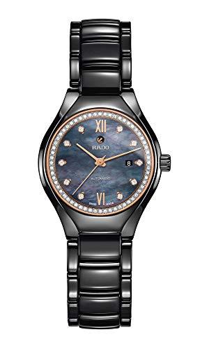 [ラドー] 腕時計 True Automatic Diamonds(トゥルー オートマティック ダイヤモンズ) 自動巻き機械式 マザーオブパール/ダイヤモンド セラミックスケース セラミックスブレスレット R27242852 レディース 正規輸入品 ブラック
