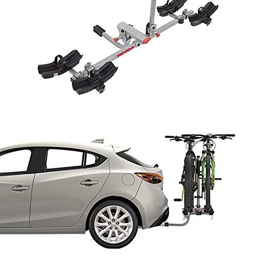 HXXXIN Coche Remolque Gancho Portabicicletas Montaña Nieve Portabicicletas Coche Que Lleva 20-29 Pulgadas (51-74Cm) Neumático Bicicleta,Two Cars