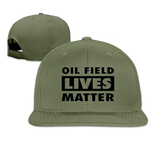 KOBG Oil Field Lives Matter Men Women Sport Hat Custom Cap Baseball Mesh Hat Design HatForestGreen