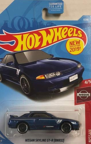 Hot Wheels 2019 Nissan Series Nissan Skyline GT-R (BNR32) 1/250, Blue