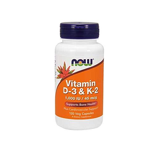 Now Foods - VITAMIN D-3 & K-2 1000IU / 45mcg - 120 veg caps