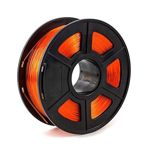 for 3D Printer Filament PETG 1.75mm 1kg/2.2lbs Plastic Filament Consumables PETG Material for 3D Printer (Color : Transparent Orange)