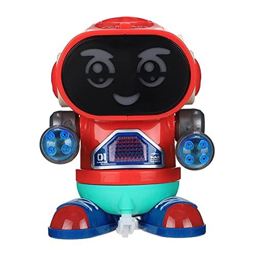 wojonifuiliy Elektro Rock Roboter für Jungen und Mädchen, Intelligenter Dancing Roboter Kinder mit Licht und Musik, Roboter Spielzeug ab 3 Jahre (B)