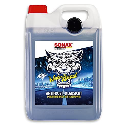 SONAX WinterBeast AntiFrost+KlarSicht bis -20 °C (5 Liter) schneller, schlierenfreier und effektiver Scheibenreiniger für den Winter | Art-Nr. 01355000