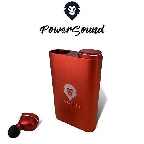 Regalos Originales - ENCORE® POWERSOUND Marca Europea - Auriculares inalambricos Bluetooth 70h Sonido estéreo con bateria portatil para movil, Cascos Bluetooth 5.0 TWS con microfono, pc iOS y Android